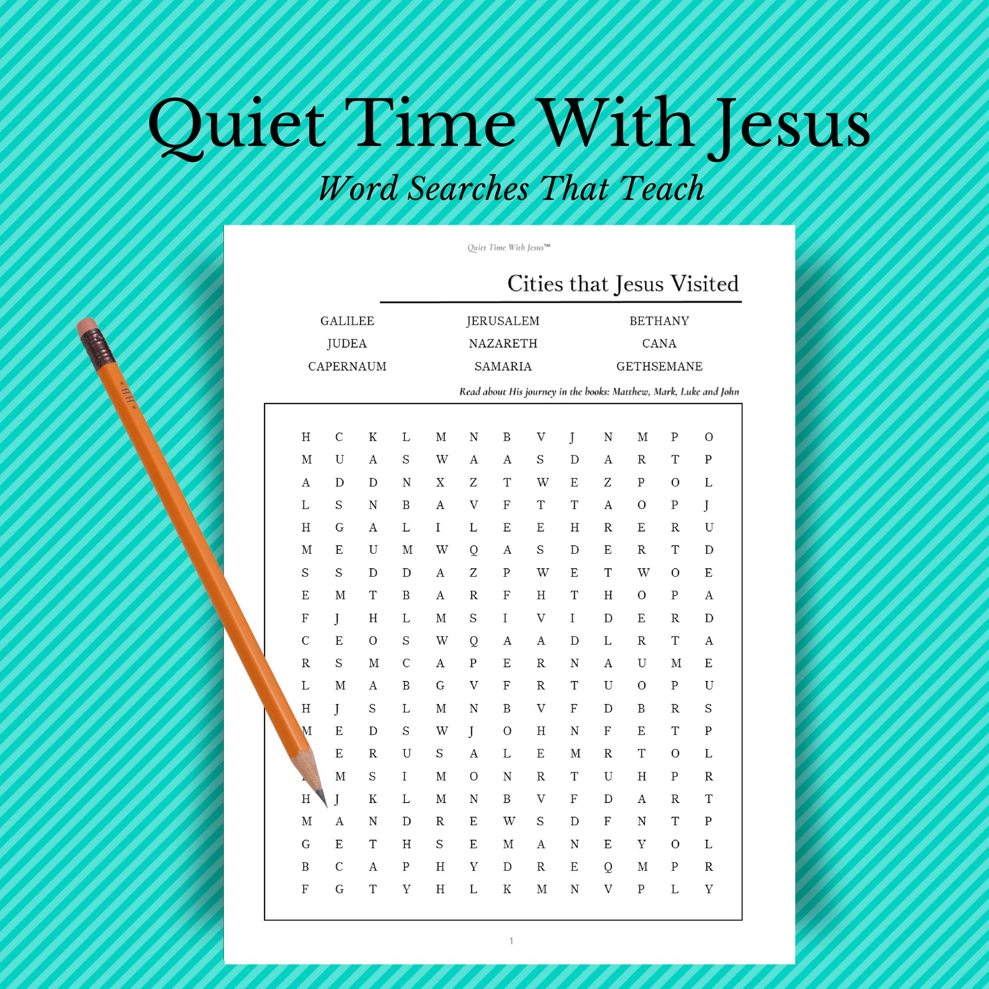 Bible Word Search Cities Jesus Visited Word