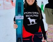 Apres ski t shirt - Powder Hound - fun apres ski t shirt - unisex