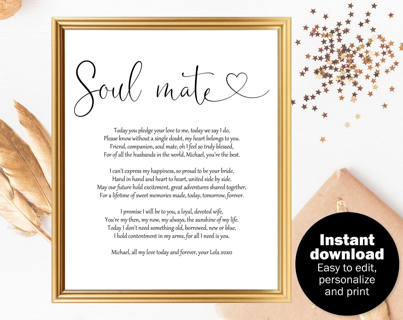 Wedding Day Gift For Groom Wedding Gift Poem For Husband