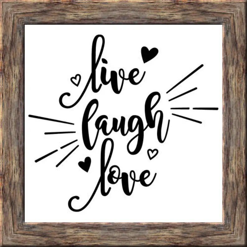 Download Live Laugh Love SVG and PNG Typography Printable Quote ...