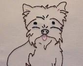 Custom Pet Portrait Minimalist Embroidered Painting