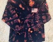 TEAM USA American Flag Upcycled Spirit Jersey Tie Dye Long Sleeved T-Shirt