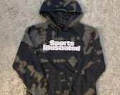 Upcycled Tie Dye Sports Illustrated XL Grey Hoodie Sweatshirt