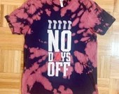 """Upcycled Tie Dye New England Patriots """"No Days Off"""" Barstool Large Short Sleeved T-Shirt"""