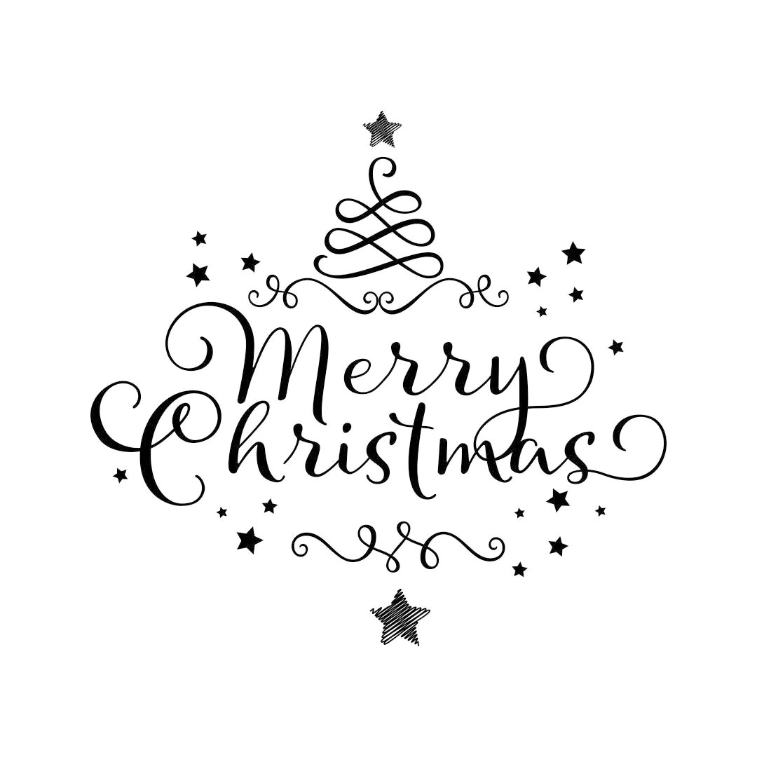 Merry Christmas Ornament Tree Star Graphics Svg Dxf Eps