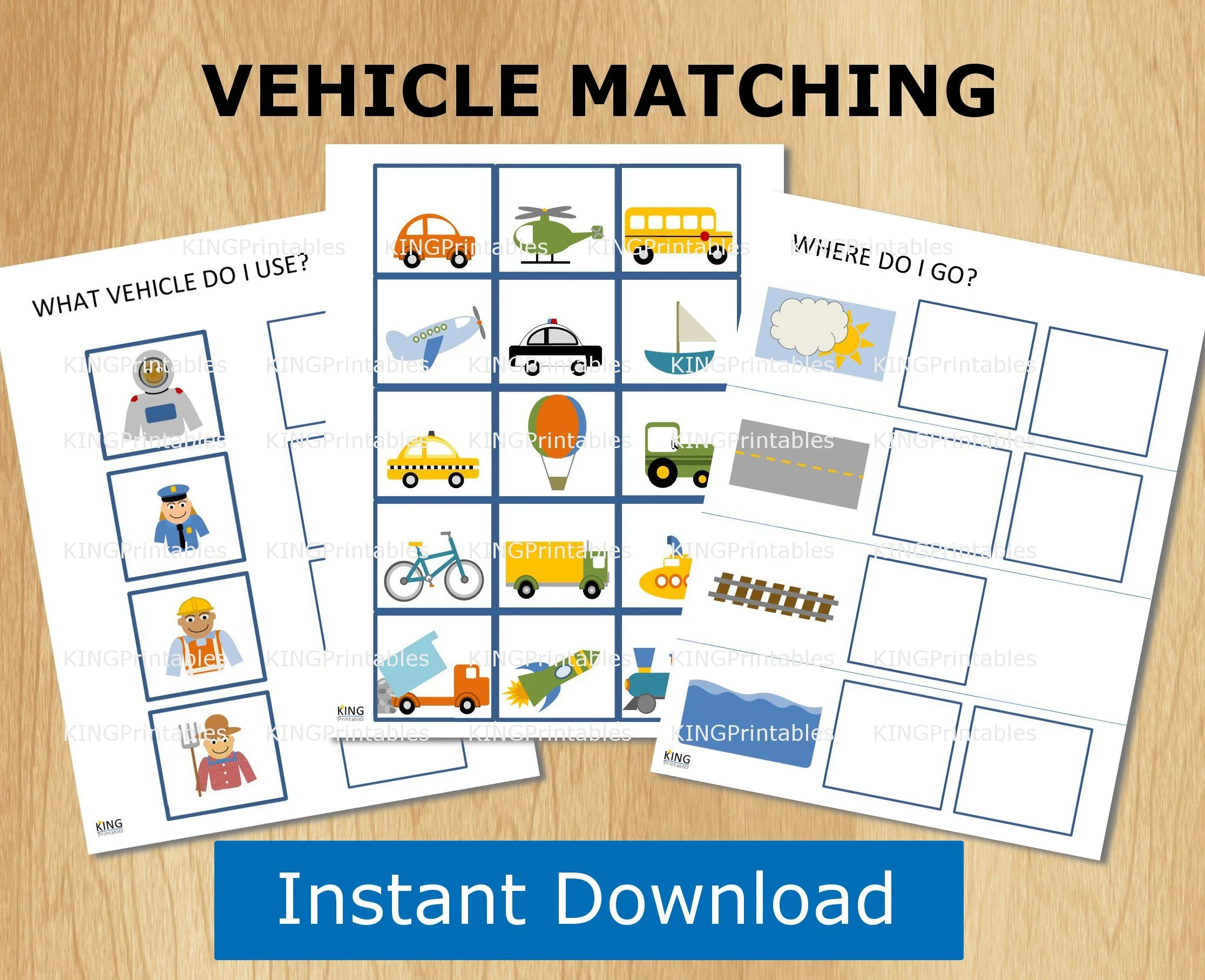 Transportation Theme Printable For Toddlers Travel Games
