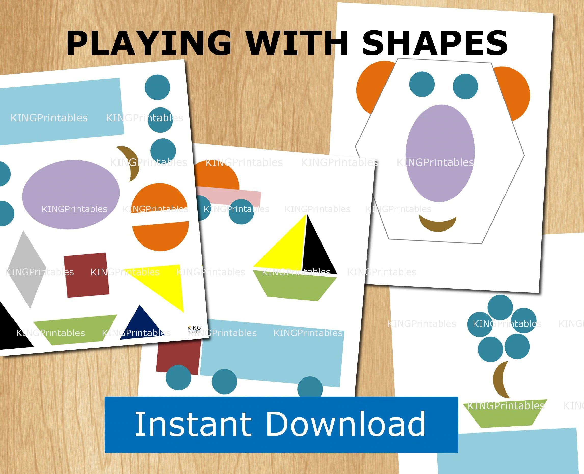 Shape Puzzles Printable 8 Pages Preschool Activities