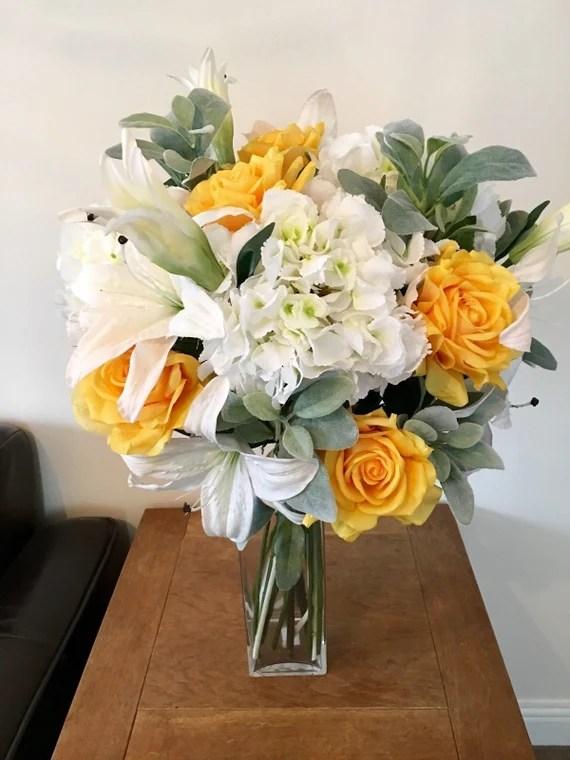 Extra Large Deluxe 60 Cm Artificial Flowers Vase Arrangement Etsy