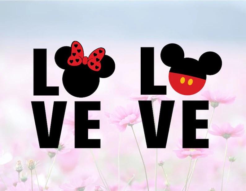 Download Disney Love SVG DXF Disney svg Valentine svg Love Wording ...