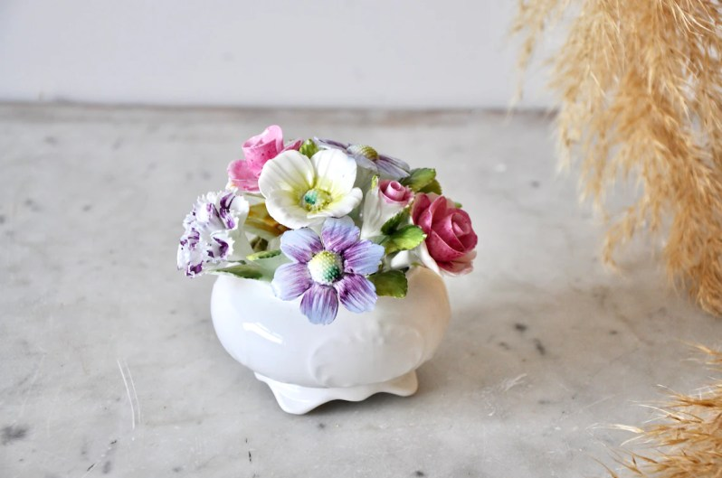 Royal Adderley fine bone china floral ornament with bouquet image 3