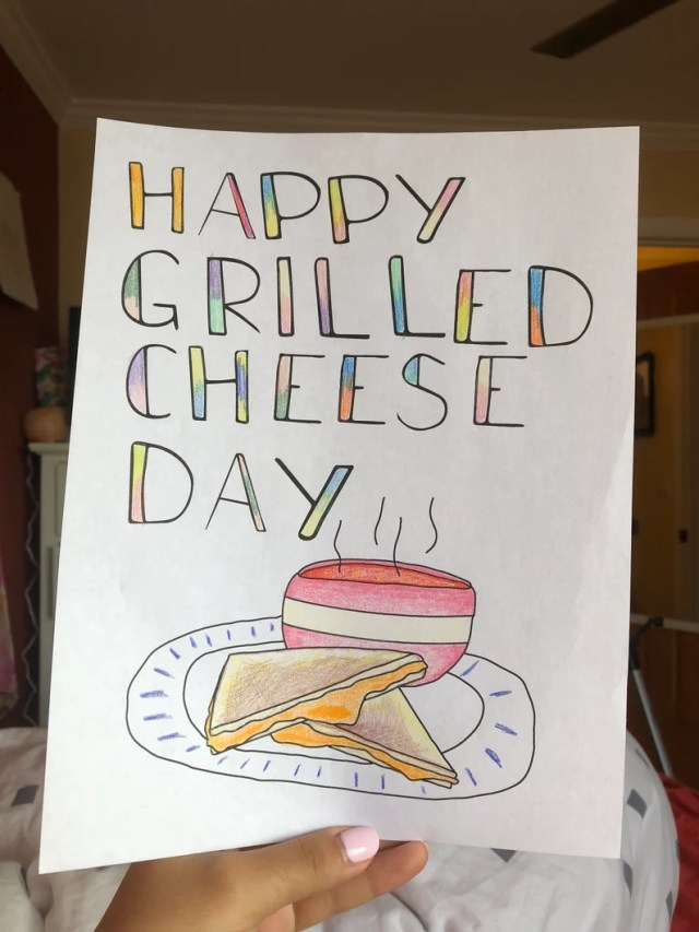 Grilled Cheese Coloring Page ~ Food holiday ~ Kids Colors Page
