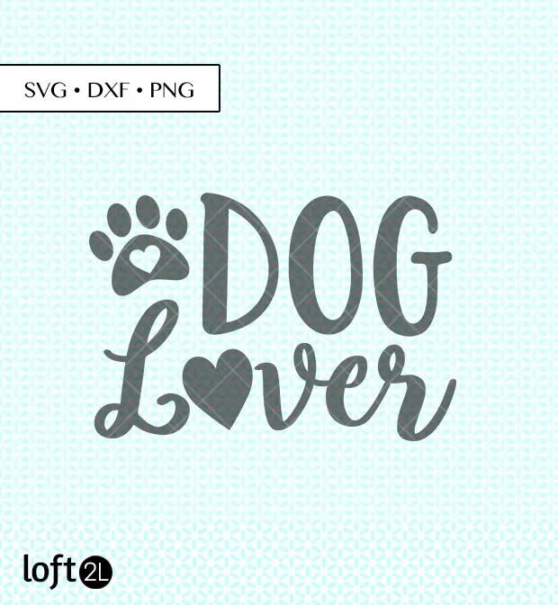Download Dog Lover Heart SVG DXF PNG Dog Lover svg dog lover cut   Etsy