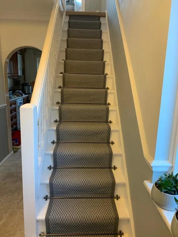 Stair Runner Extremely Long Runner Rug Custom Stair Carpet Etsy   Custom Stair Runners Near Me   Flooring   Basement Stairs   Staircase Makeover   Animal Print   Staircase Remodel