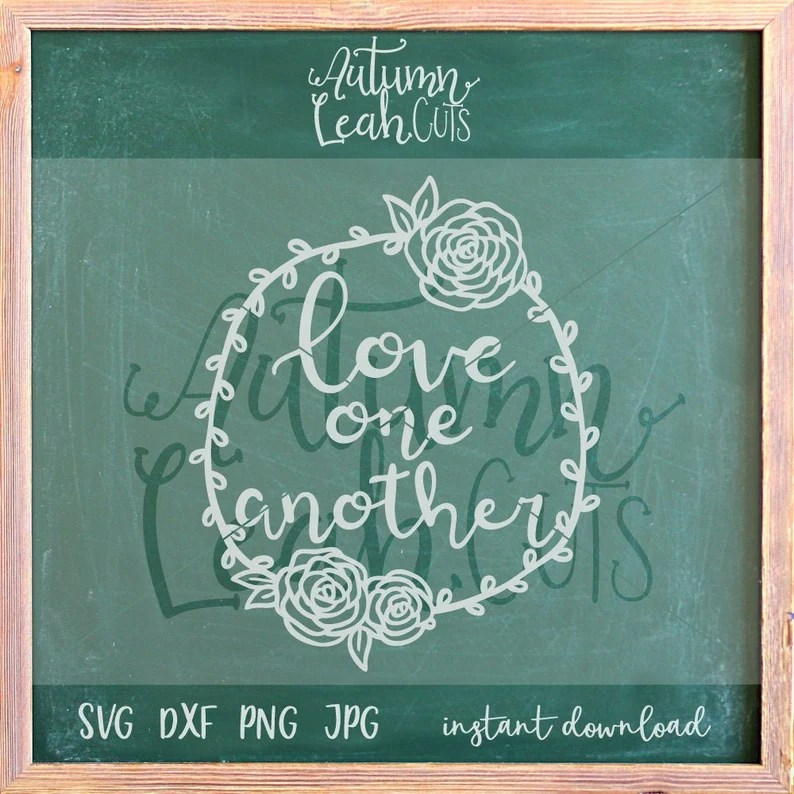 Download Love One Another Hand Lettered svg SVG PNG Jpeg DXF | Etsy