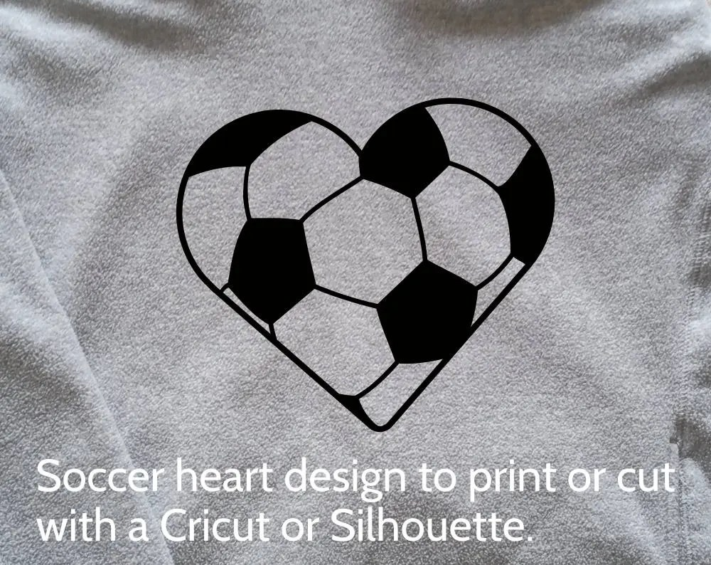 Download SVG Soccer Heart Ball design and cut file for Cricut ...