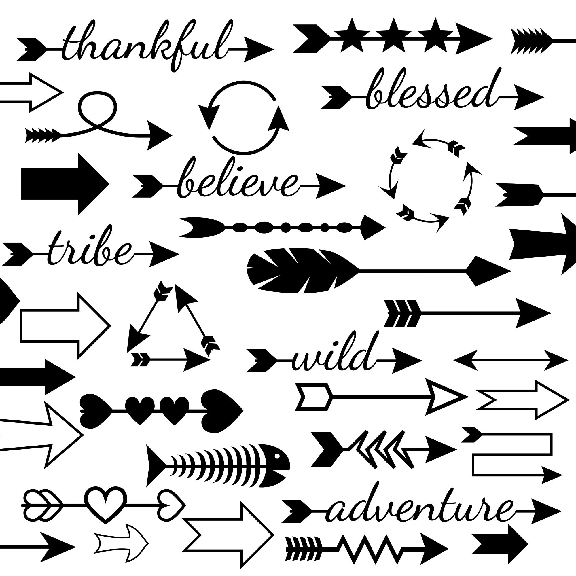 50 Arrow Svg Files And Arrows Clipart In Dxf Eps And