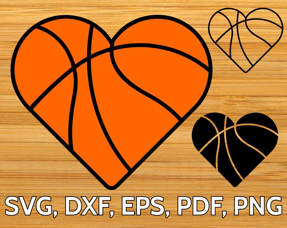 Download Basketball Heart SVG Cut File for Cricut & Silhouette ...