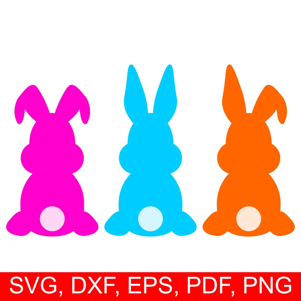 Download Easter Bunny SVG cut file and Easter Rabbit clipart, set ...