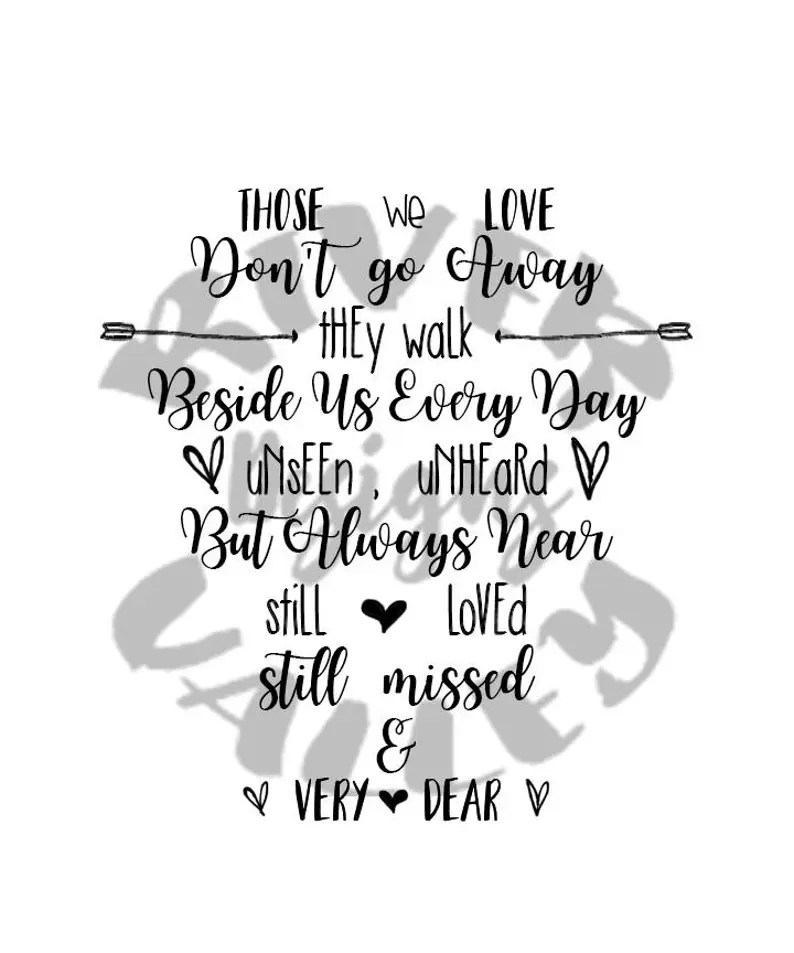 Download Those we love don't go away... SVG PDF JPG wedding | Etsy