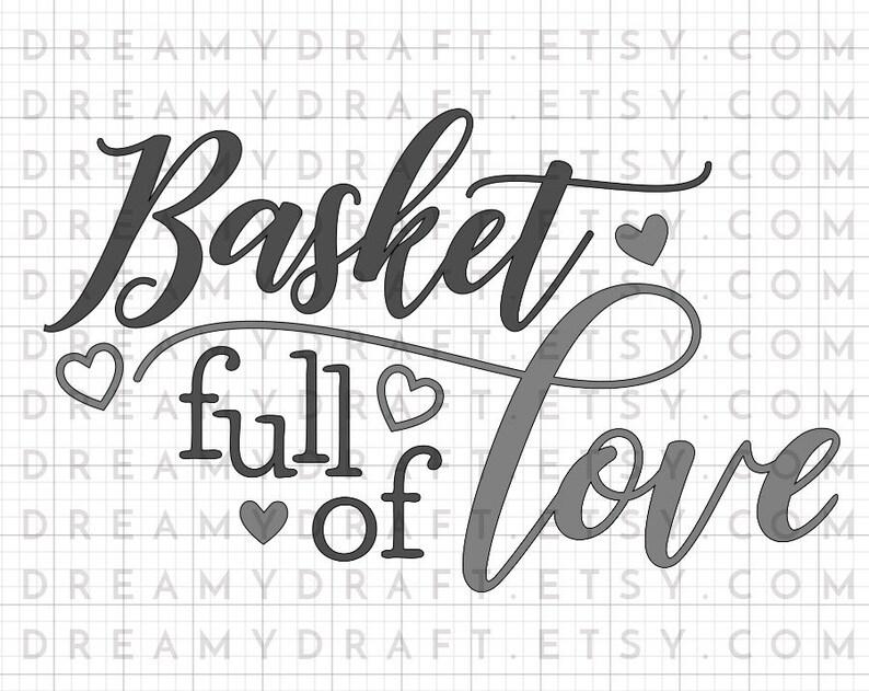 Download Basket full of love SVG cut file Easter svg gift tag svg ...