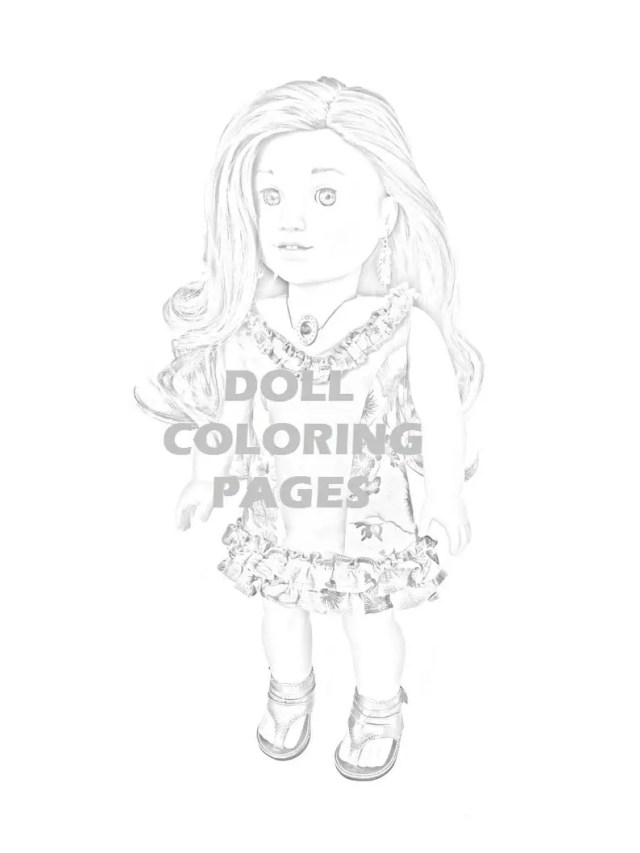 American Girl Doll Coloring Pages Lea – homeicon.info