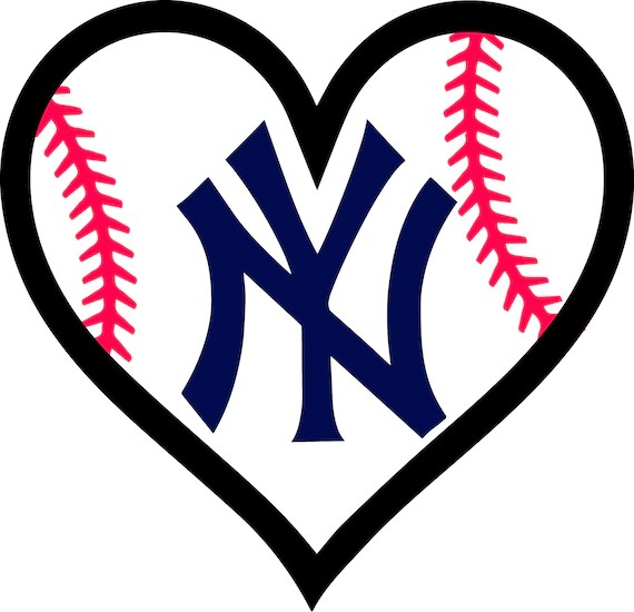 Download 30% off New York Yankees Baseball l Love Heart file decal ...