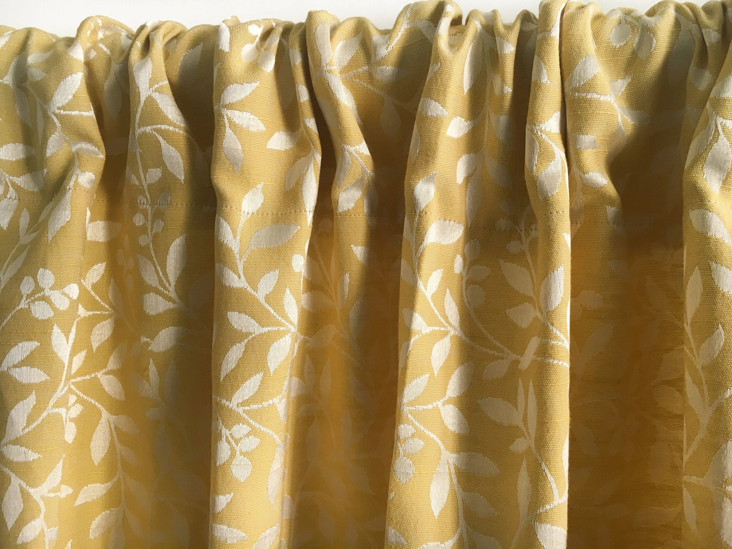 yellow floral curtain panels blackout curtain handmade window curtains silk yellow curtains rod pocket kitchen curtain window treatments