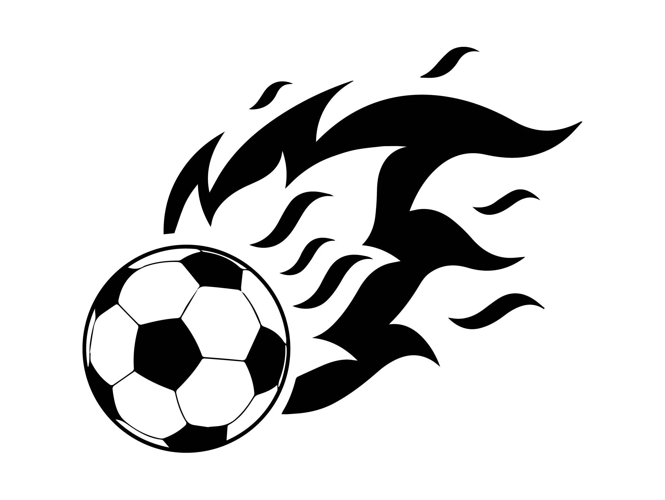 Soccer Ball Football Fire Sports League Wings Goal American