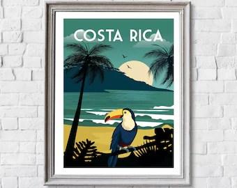 costa rica poster etsy