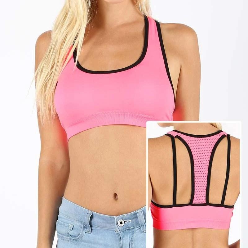 Mesh Back Pink/Black Spor...