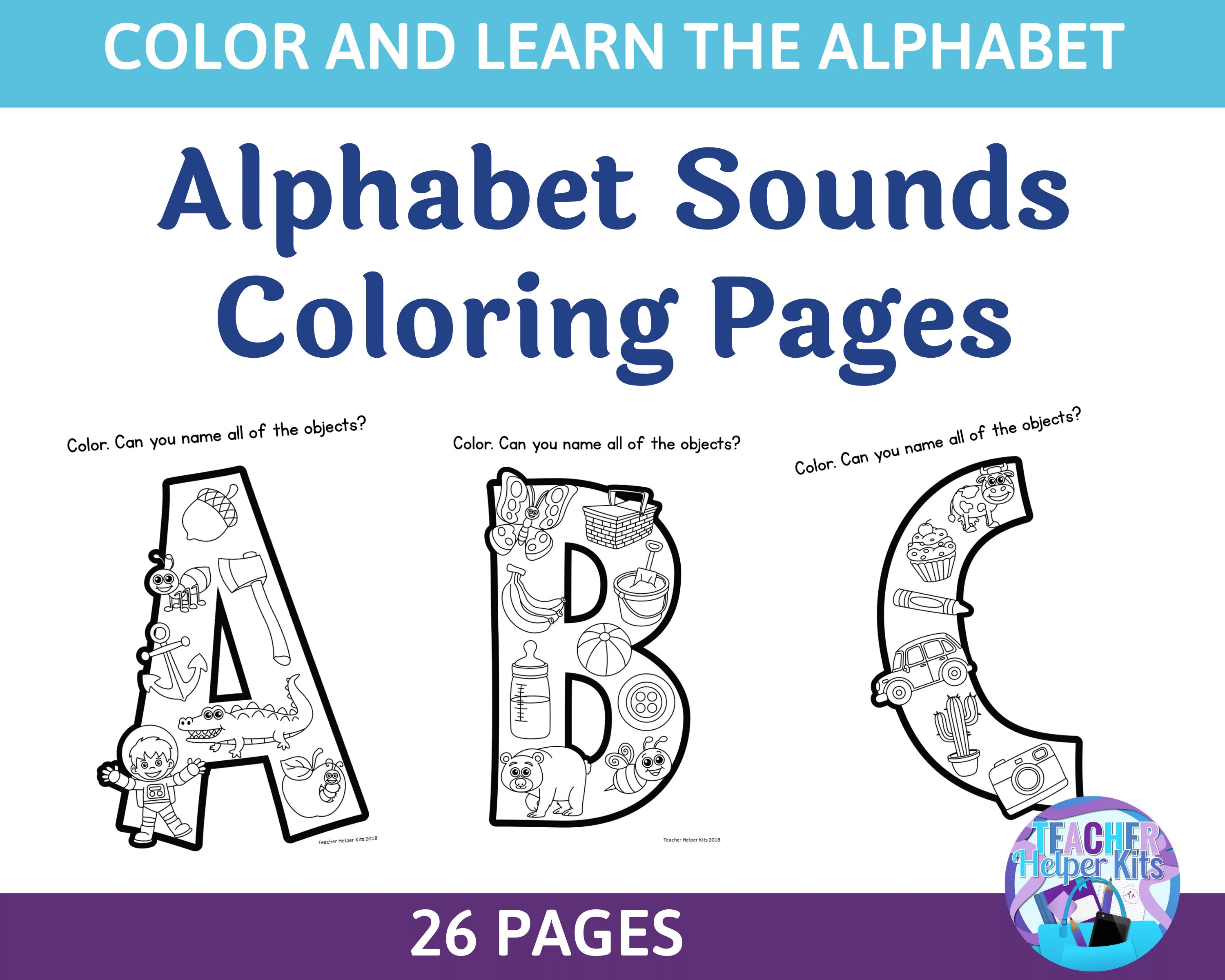 26 Printable Alphabet Coloring Sounds Worksheets Alphabet