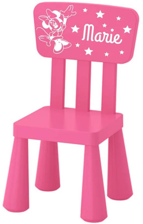 chaise plastique enfant personnalise