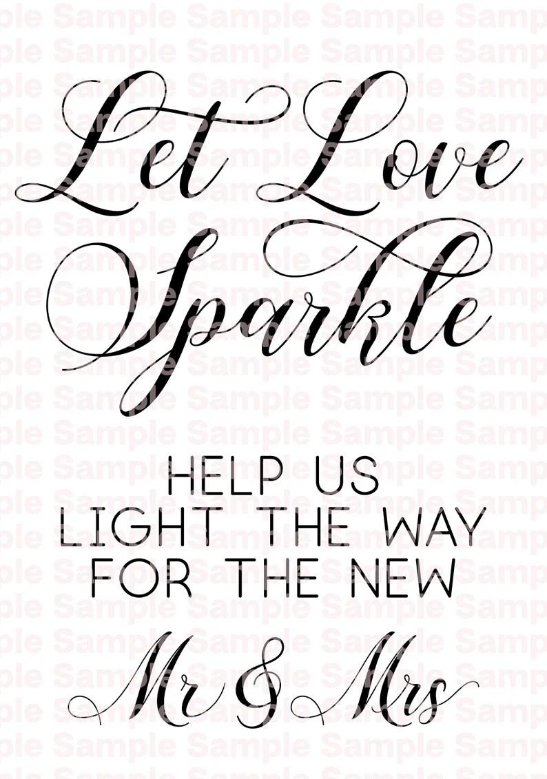 Download Imprimible 'Let Love Sparkle' PDF PNG y SVG archivo   Etsy