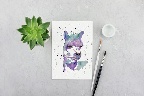 Purple Llama Print
