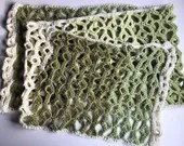 Green Shoots One Skein Spring Scarf Crochet Pattern