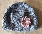 Crochet Hat Pattern Graceful Grey