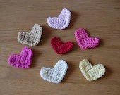 Crochet Pattern with Tutorial for a Simple Heart Applique
