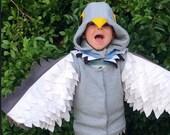 Pigeon Costume | Mo Willems, Halloween, Kids Dress Up, Fancy Dress, Personalised Gift, Handmade Costume, Bespoke, Montessori