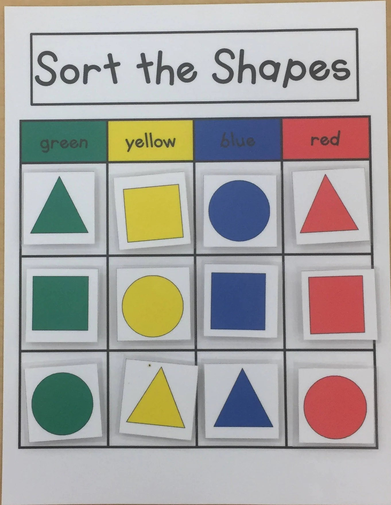 Sorting Shapes Kids Games Puzzles Learning Game Math