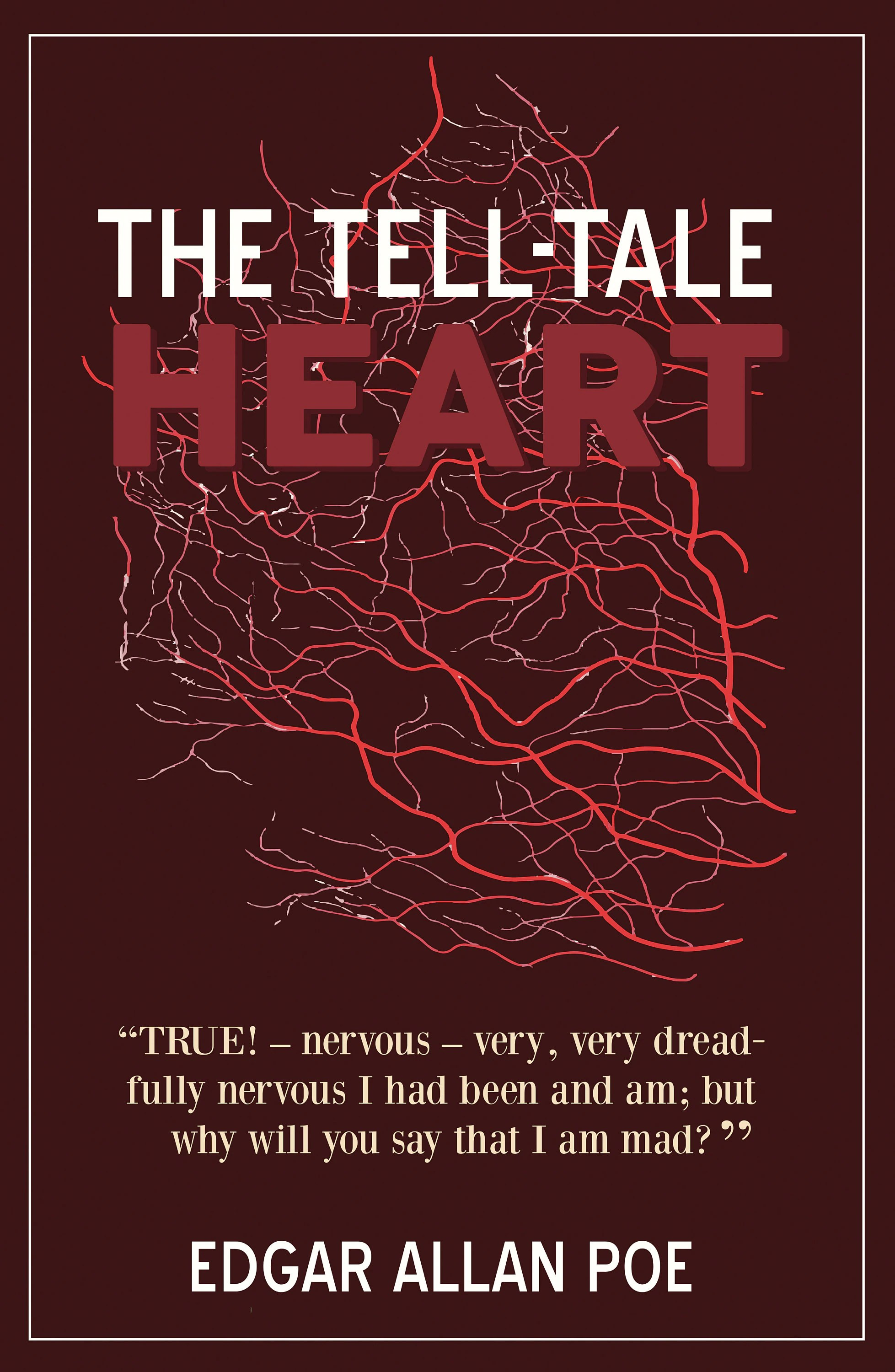 The Tell Tale Heart By Edgar Allan Poe Book Poster