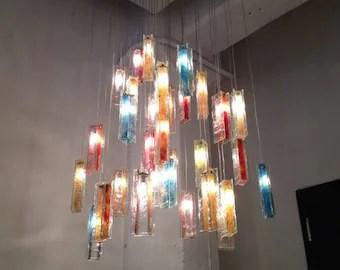 art glass lighting etsy