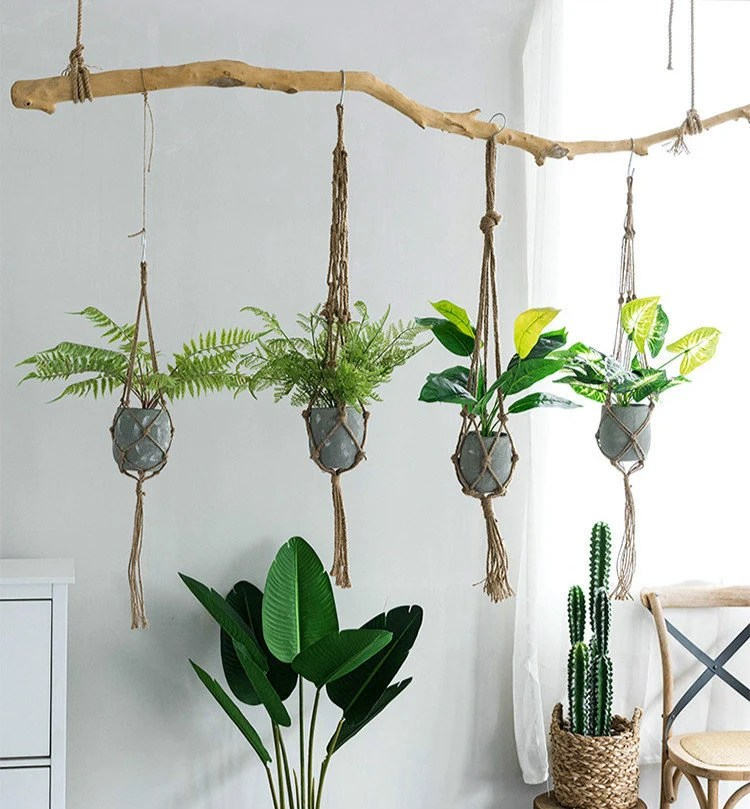 Simple Hanging Planter Hanging Plant Holder Macrame Plant ... on Hanging Plant Stand Ideas  id=87623