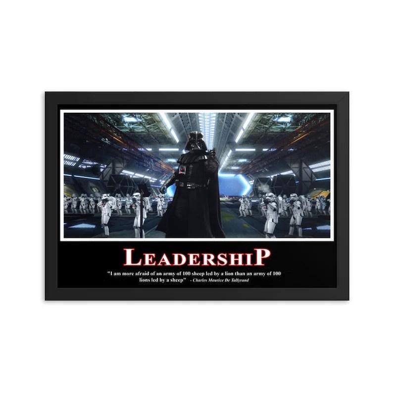 darth vader leadership poster