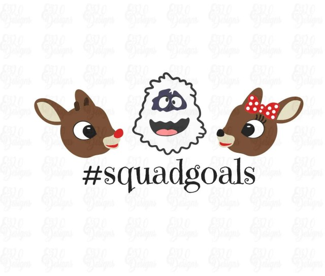 Rudolph The Red Nose Reindeer Clarice Bumble Squad Goals Svg Dxf File Use All Or One Presliced