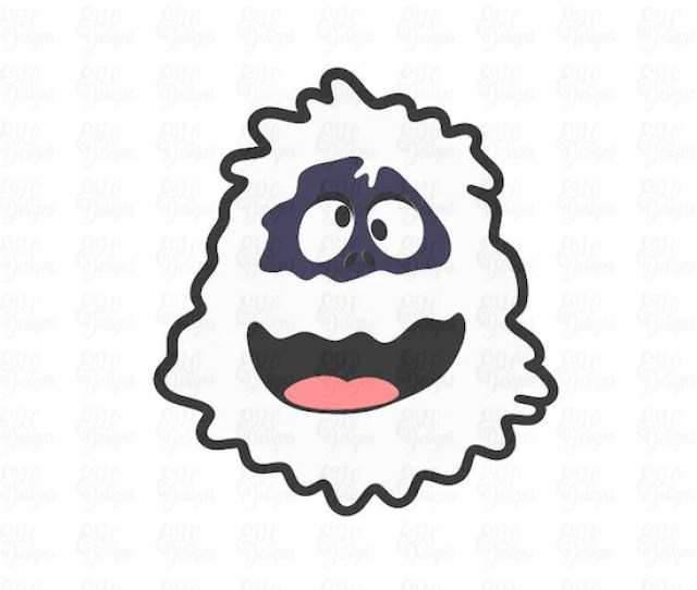 Bumble The Abominable Snow Monster Svg Dxf File