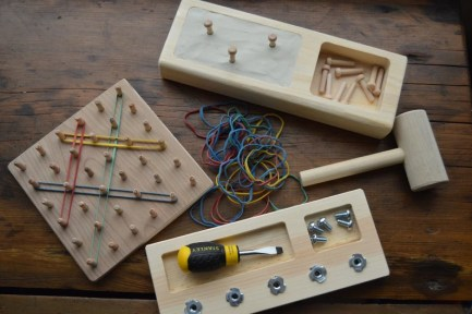 Toddler Gift Box / Montessori Screw Board / Hammer Game / image 0