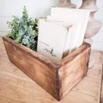 Farmhouse Style Wooden Centerpiece Box Flower Box Wedding Centerpiece Box Rustic Wooden Box Farmhouse Decor Farmhouse
