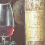 Wine Bottle Painting Wine Barrel Oil On Canvas Wall Art Beautiful Decor