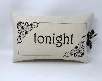 not tonight pillow etsy