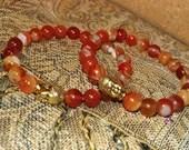 Red Agate Gemstone Bracel...